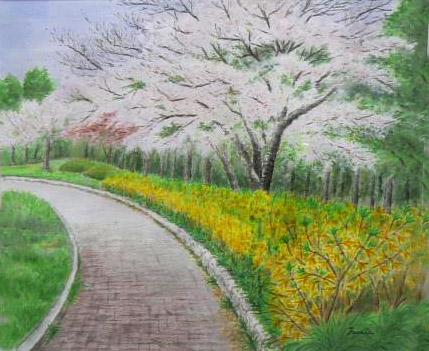 公園の春  矢野文江.jpg